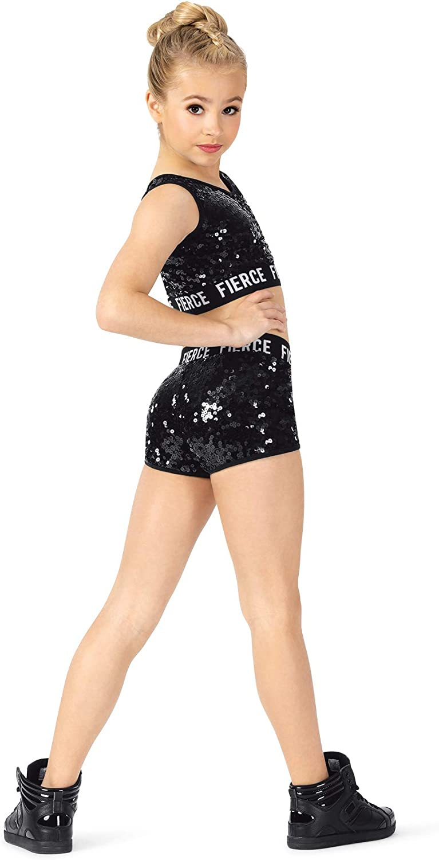 Double Platinum Girls Fierce Logo Band Performance Shorts N7820C