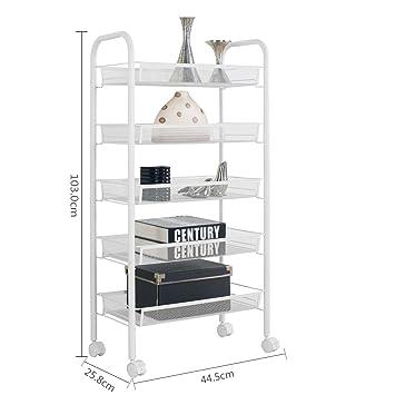 5-Shelf D25.8cm W44.5cm H103cm Armazón de almacenamiento en rack Estantería