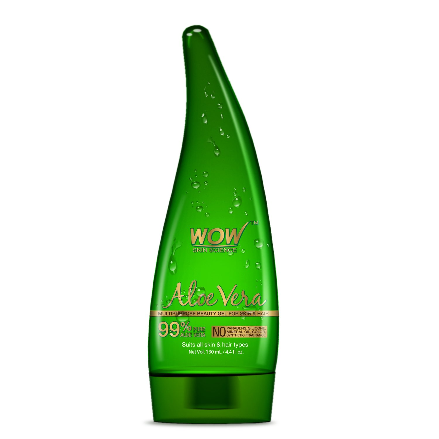 WOW Aloe Vera Multipurpose Beauty Gel for Skin and Hair, 130ml product image