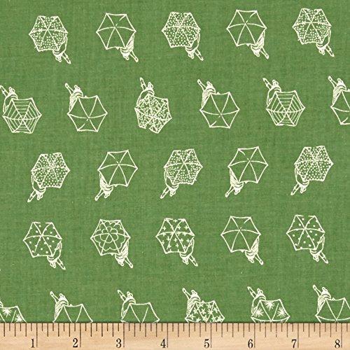 Cotton + Steel Raindrop Rainwalk Spearmint Fabric by The Yard