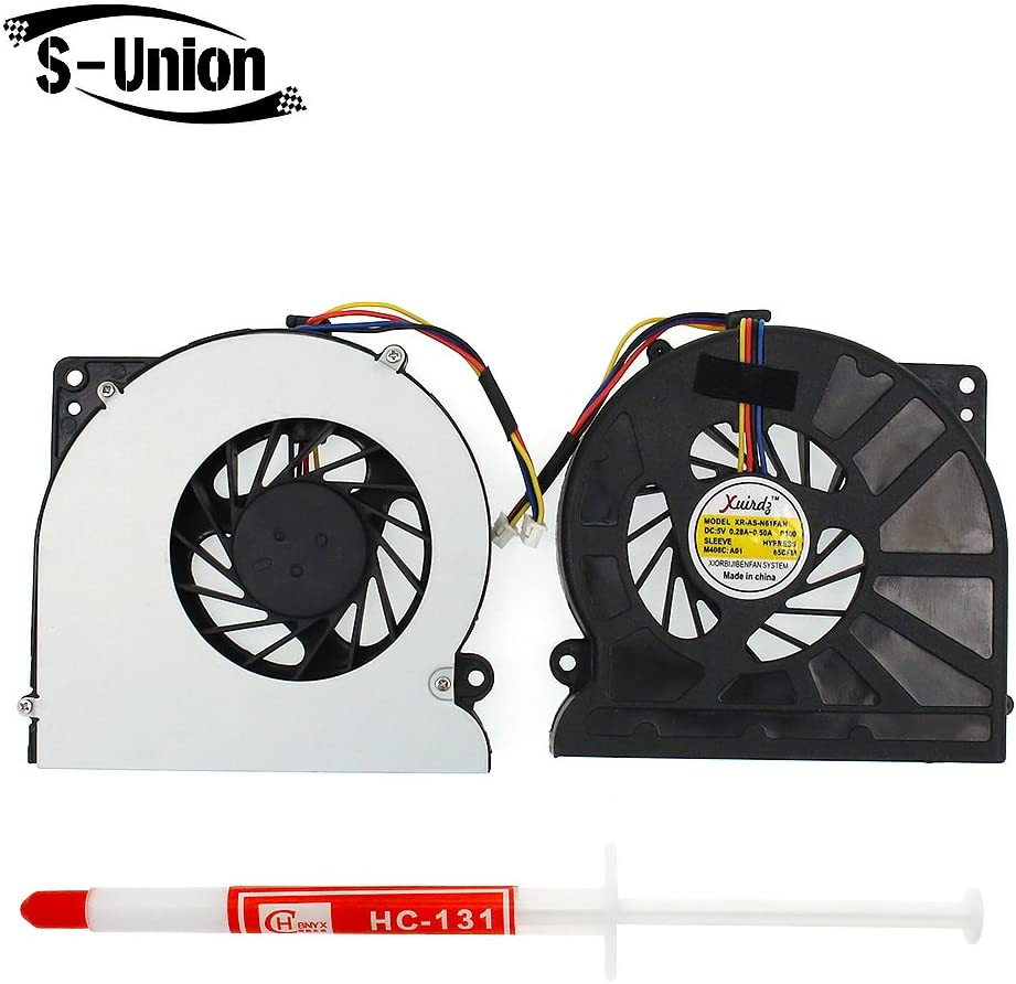 FanEngineer Generic NEW Laptop CPU Cooling Fan For Asus N61 N61V N61JV N61JQ N61VG K52 K72 K72D K72DR K72DR-A1 K72DR-X1 A52 A52F Series Replacement Part Number BFB0705HA-WK08