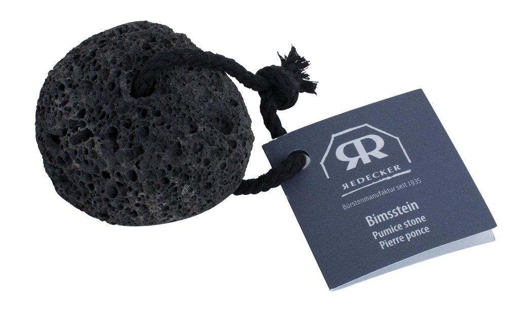 Redecker schwarzer Bimsstein Natur-Lavastein, mit Baumwollband Bürstenhaus Redecker