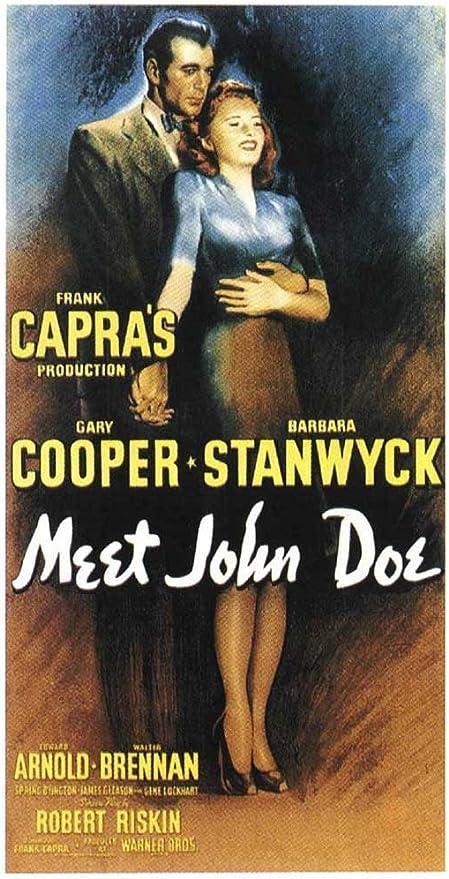 Amazon.com: Meet John Doe POSTER Movie (14 x 36 Inches - 36cm x 92cm) (1941)  (Insert Style A): Posters & Prints
