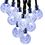 Fetta 20 Inches 8 Tubes 144 Leds Waterproof Meteor Shower Rain Lights,Outdoor Snowfall String Lights For Decorating Bedroom Christmas Tree Wedding Party Garden Street Parks (Blue, 144 Leds)