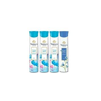 Yardley London - Desodorante para Mujer con Diseño de Tres Países de Breeze & One (