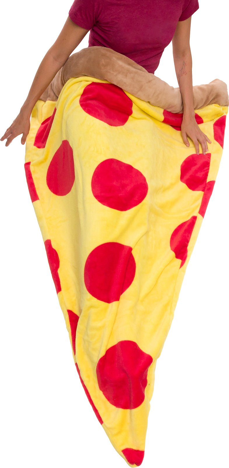 Silver Lilly Pizza Sleeping Bag - Plush Fleece Giant Pizza Slice Blanket for Kids and Adults by (Adult)
