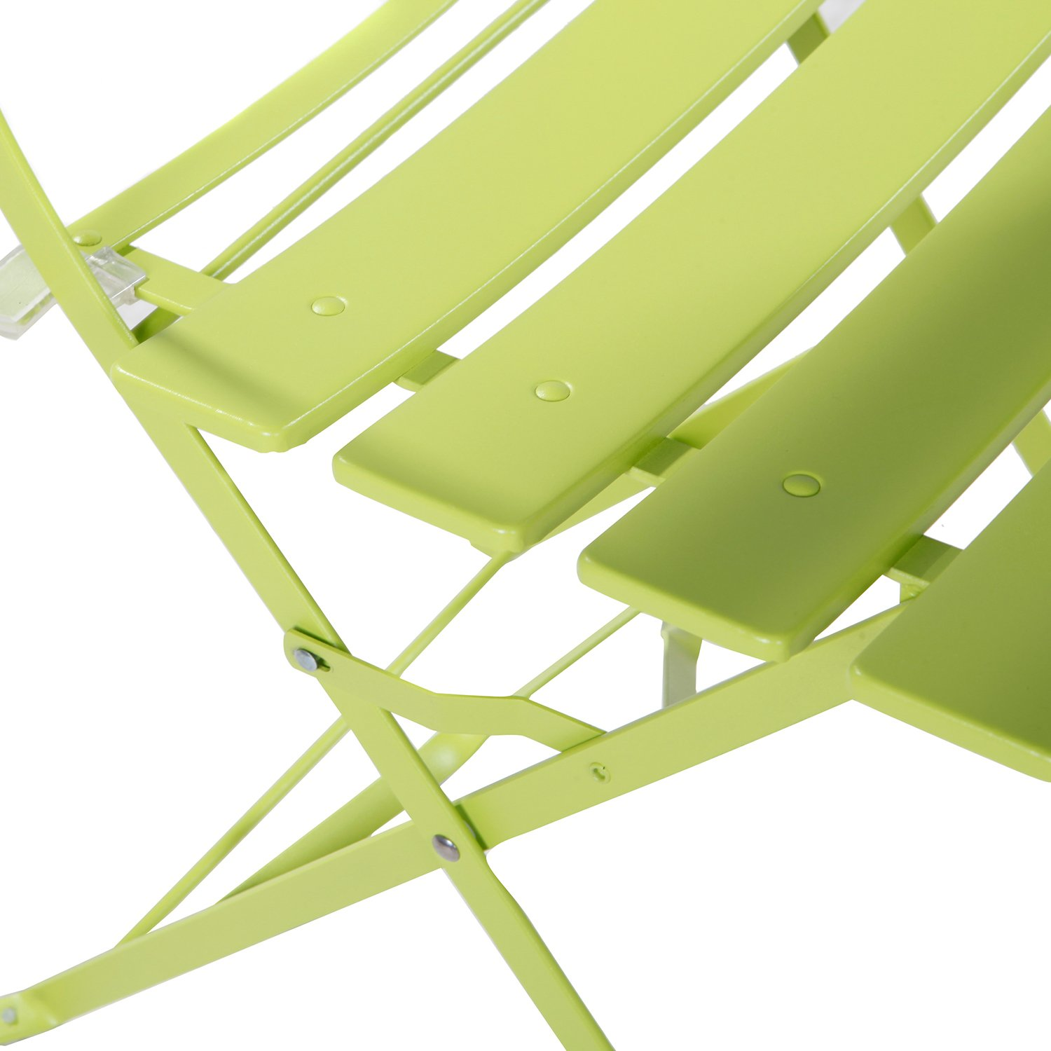 Grand patio 3-Pack Sling Glider Folding Steel 2 Chairs Round Table Indoor Corner Sets,Vivid Green by Grand patio (Image #7)