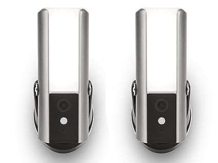 Juego de 2 lámparas para exteriores de LED de intensidad ...