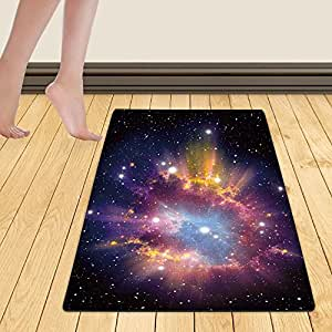 WelFriday custom door mats 111293468 Supernova Explosion,W22 x L36 inch