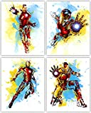 i am legend merchandise - Iron Man Wall Decor Collection - The Great Marvel Avenger in our Wall Art Movie Poster Series - Set of 4 8x10 Photos