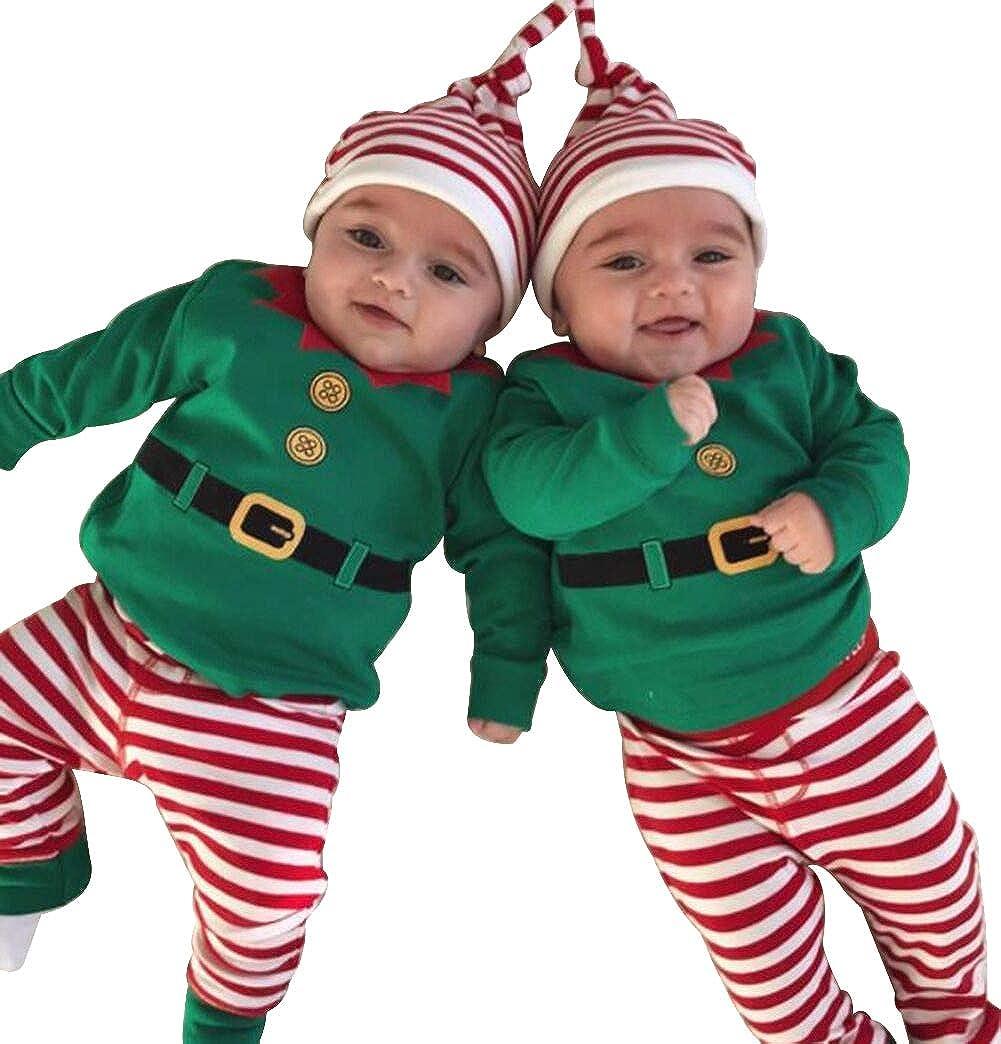 c3effd5ab652 Amazon.com  EGELEXY Christmas Outfits Infant Baby Elf Costume Long ...