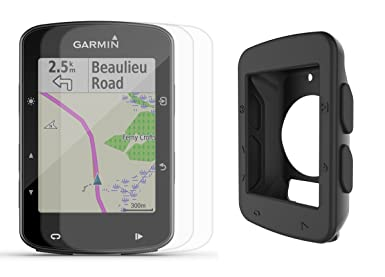 Garmin Edge 520 Plus 2018 Version Cycle Bundle w PlayBetter Silicone Case Screen Protectors Maps Navigation, Mounts GPS Bike Computer Black Case, GPS Only