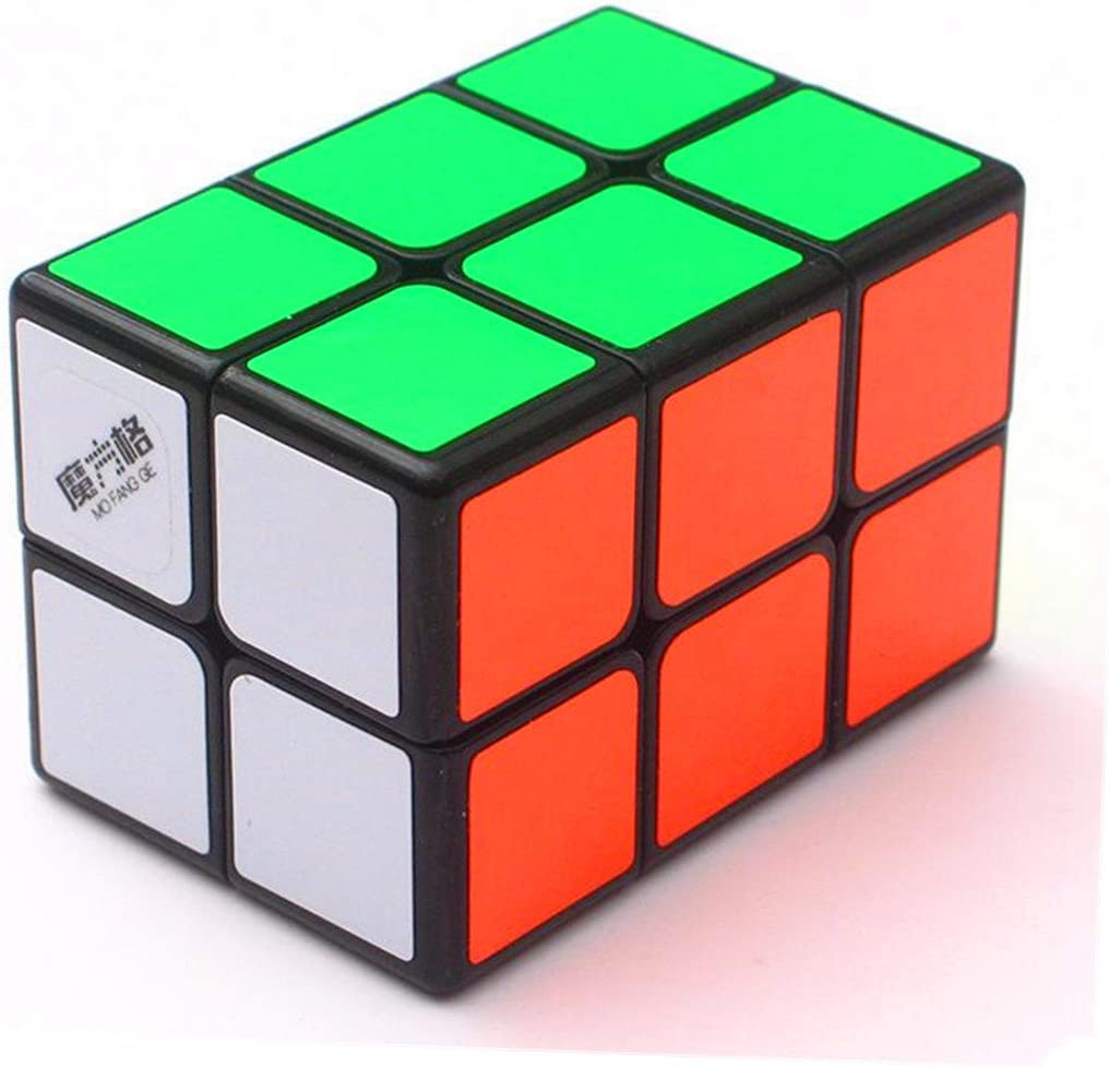 CuberSpeed Qiyi 2x2x3 Black Cuboid Cube Qiyi 223 Magic Cube Tower Shaped MoFangGe 2x2x3 Magic Cube