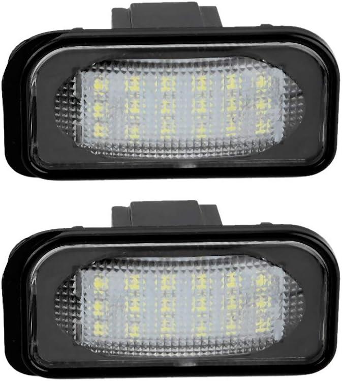 Aramox Feu /éclaireur de plaque Lampe /à plaque dimmatriculation /à 18 perles R /& L LED Feu /éclaireur de plaque pour C-classe W203