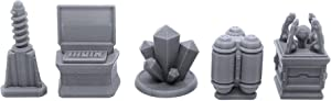 EnderToys Objective Markers, Terrain Scenery for Tabletop 28mm Miniatures Wargame, 3D Printed and Paintable