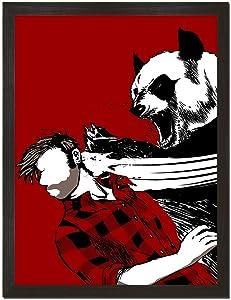 Sharp Shirter Funny Panda Poster Cool College Decor Bear Wall Art Red Animal Art Print Unframed 8x10 Inches