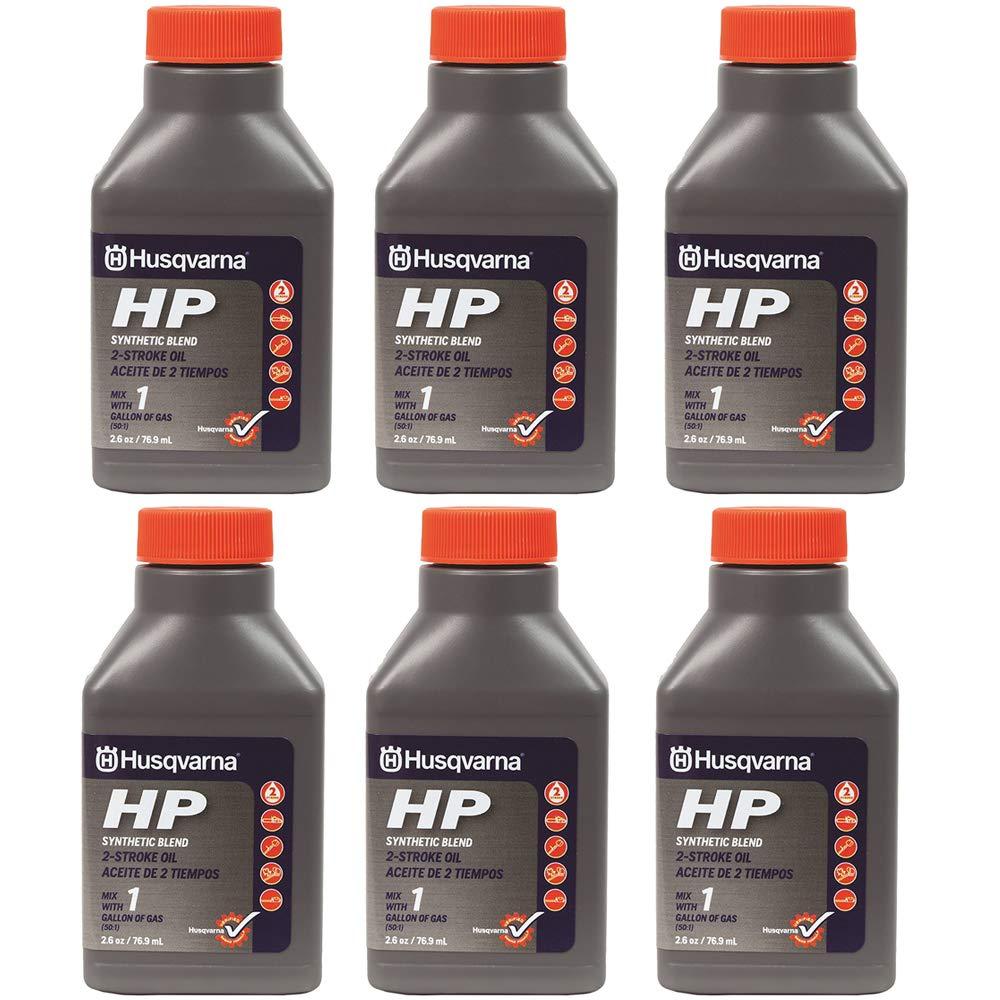 Husqvarna 2.6 oz HP Synthetic Blend 2-Cycle Engine Oil 6-Pack 593152601 by Husqvarna