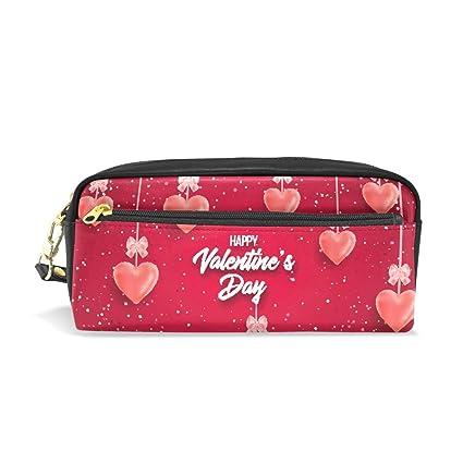Amazoncom Happy Valentines Day Red School Pen Case Kids Pencil