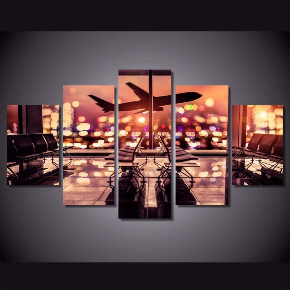Modular Wall Art lienzo fotos para sala de estar 5 piezas ...