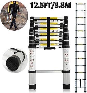 3.8M New Multi-Purpose Aluminium Telescopic Ladder Extension Extendable Hot sell