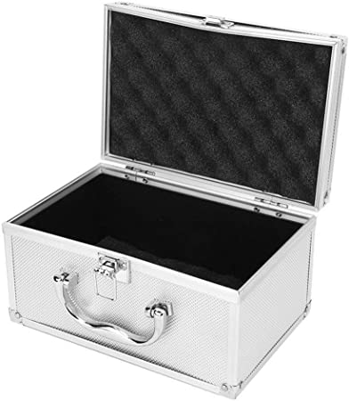KUANGQIANWEI Caja Herramientas Aleación de Aluminio de la Caja de Herramientas Caja de la Pantalla portátil de la Caja de Herramientas Caja de Instrumentación Caja de Herramientas: Amazon.es: Hogar