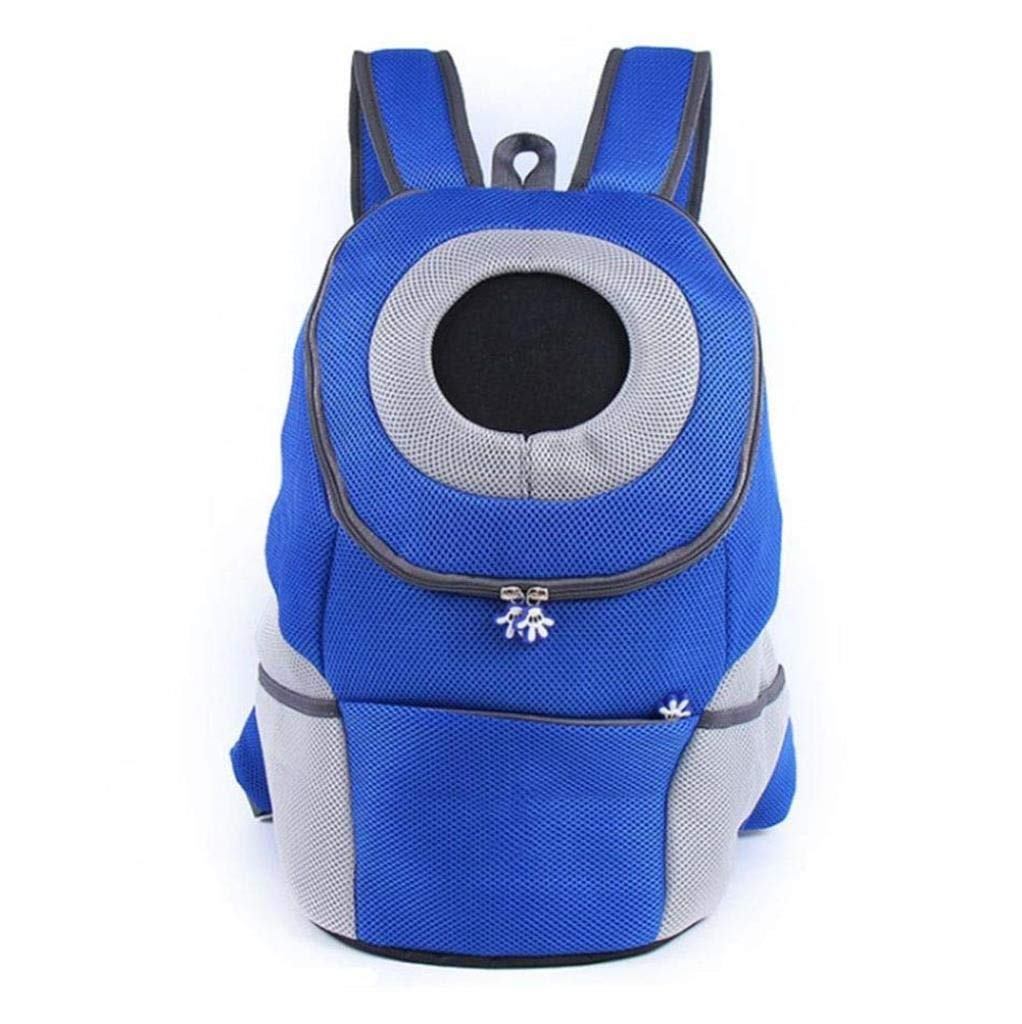 bluee Pet Bag Backpack Out Portable Chest Backpack Cat and Dog Supplies 36 x 31 x 17CM zbbSwza (color   bluee)