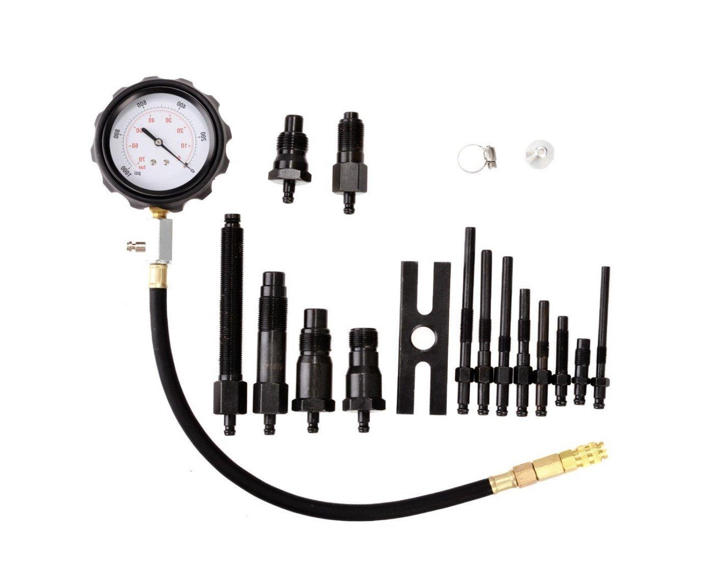 witss Caja de herramientas para comprobar la compresión de motores diésel (TDI y CDI), 17 herramientas, 70 bares: Amazon.es: Coche y moto