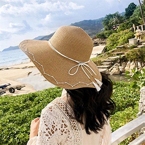 Skyeye Lady Femme Floppy Chapeau /à Large Bord Chapeaux de Paille Tourisme Pare-Soleil ext/érieur Pare-Soleil Pliable Chapeau de Soleil Anti-UV Taille L Kaki 58/–60/cm
