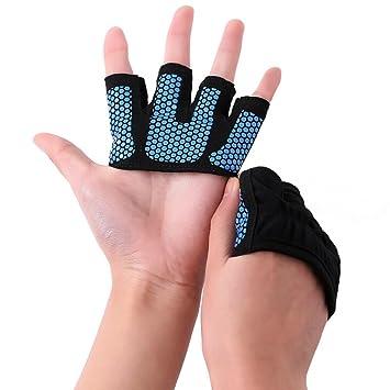 Schwarz Gewichteheben Fitness-Handschuhe Training Fitness Yoga Übungen Radsport