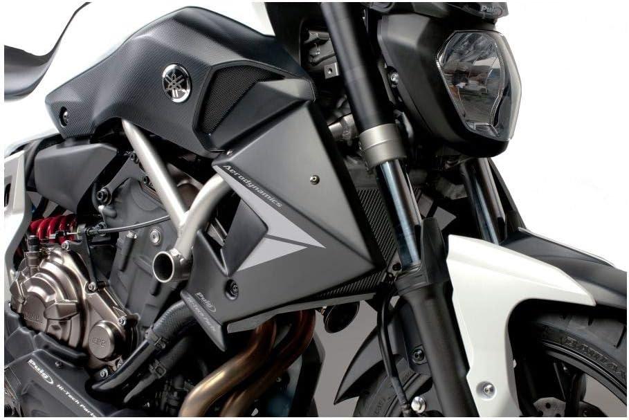 Amazon Com Puig Radiator Side Panels Black For 18 21 Yamaha Mt 07 Automotive