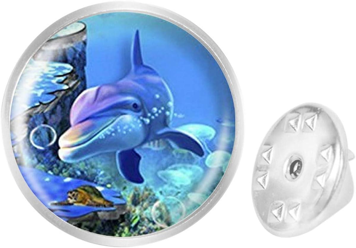 Custom Lapel Pin Brooches Beautiful Dolphin Banquet Badge Pins Trendy Accessory Jacket T-Shirt Bag Hat Shoe