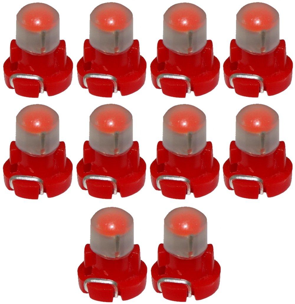 Aerzetix - 10 x Lampadine T3 LED 12V luce rosso per cruscotto . SK2-C13519-AC587