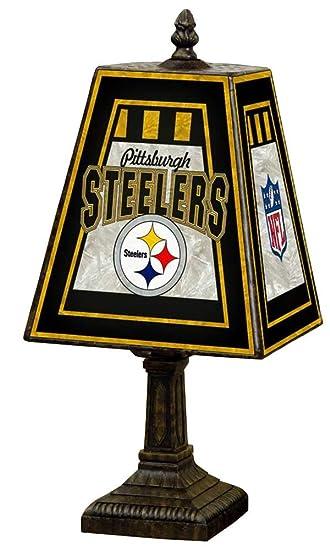 Amazon.com: NFL 14 inch Arte Lámpara de mesa de vidrio ...