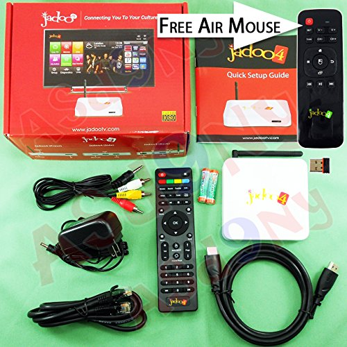 Jadoo TV 4 IPTV HD 1080p Hindi Indian Bangladesh Pakistani Media Box by JADOO by Jadoo