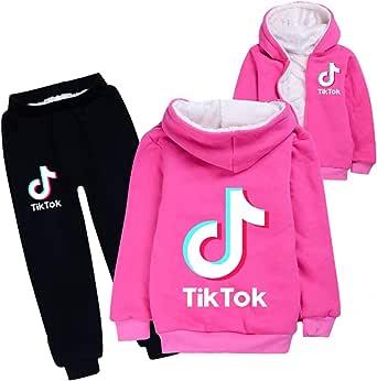 Conjunto de 2 Piezas Ropa Deportiva Traje de Jogging para Mujeres y Hombres TikTok Moda algodón Invierno Traje de Abrigo para niños y niñas