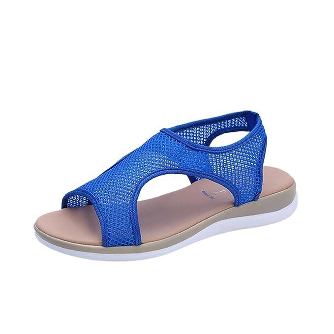 Sandalen Damen,Binggong Mode Frauen Atmungsaktive Fläche Ferse Anti  Skidding Strandschuhe Rom Sandalen Stiefel Damenschuhe 30c8abc93c