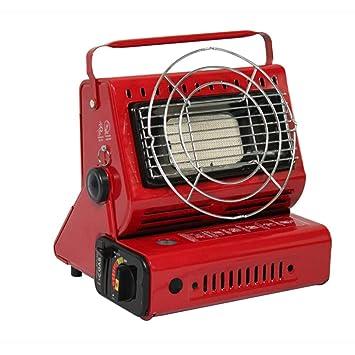 Portable Gas Calefacción Outdoor Calefactor Gas Calefacción Camping Estufa 1300W Rojo: Amazon.es: Hogar
