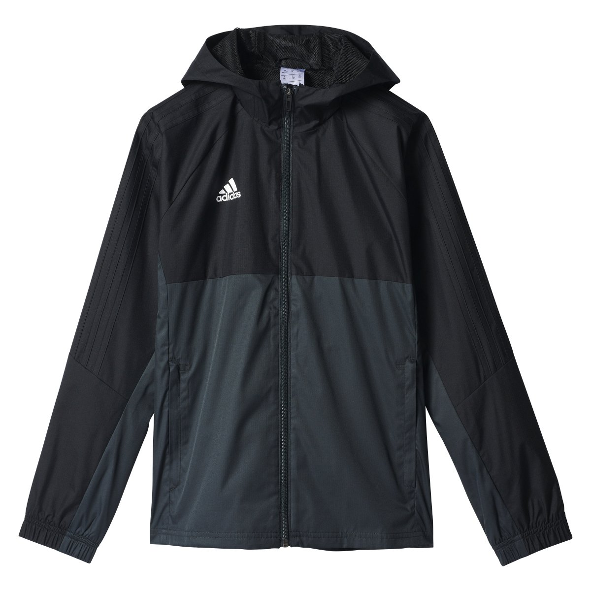 adidas Tiro 17 Jacket - Boys' Black/Dark Grey/White, L
