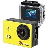 QUMOX SJ4000 azione Sport Cam Camera Waterproof Full HD 1080p Video Helmet Cam con cassa impermeabile, Gialla