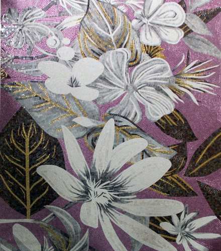 Awesome Decorative Floral Hand Made Glass Mosaic Tile Modern