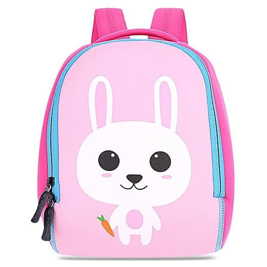 1ed66a092101 Kid Mini Backpack Cute Cartoon Animal Zipper Closure Unisex Children  Kindergarten Shoulder School Bag (Bunny
