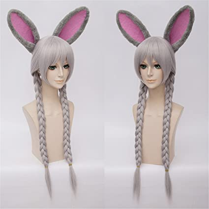 LanTing Cosplay Peluca Zootopia Judy Hopps Silvery Long Styled Woman Cosplay Party Fashion Anime Human Costume