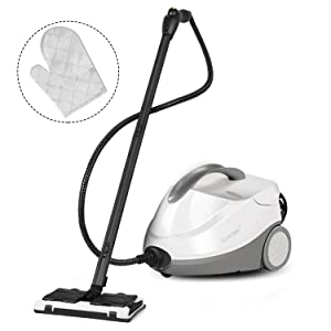 COSTWAY Steam Cleaner, Adjustable Heavy Duty Professional 1500ML (51 OZ) Water Tank Steam Cleaning, Chemical-Free Cleaning Machine-Included 17 Accessories, Ideal for Floors, Windows, 2000W