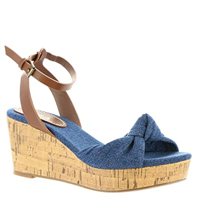 5bca44a5c9e MIA Women s Fabric and Cork Wedge Sandals (6.5 B(M) US
