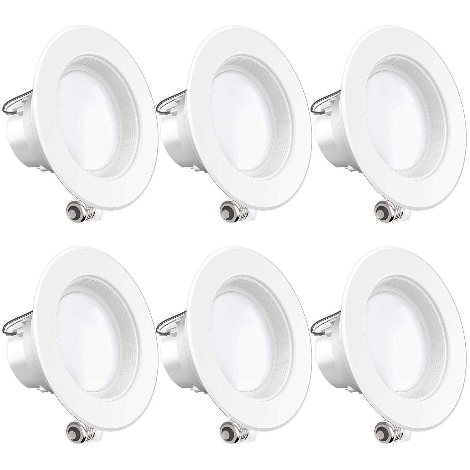 Sunco Lighting 6 Pack 4 Inch LED Recessed Downlight, Baffle Trim, Dimmable, 11W=40W, 3000K Warm White, 660 LM, Damp Rated, Simple Retrofit Installation - UL + Energy Star
