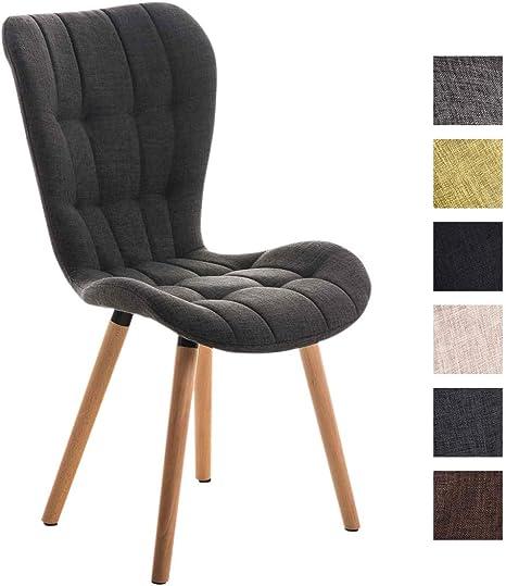 avec à Bois Support de Tissu Composée Chaise d'un Décoratives Haut Style Dossier Salle et en Manger ELDA CLP en Rembourrée pour Coutures Scandinave UzMSpqV