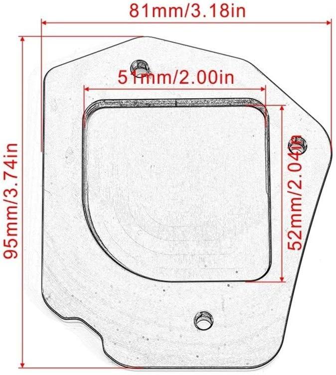 Motorrad-St/änder Fu/ß Seitenst/änder Vergr/ö/ßerer-Platte for BMW F800GS F800 GS F 800 GS 2008 2009 2010 2011 2012 2013 2014 2015 2016 Color : Black