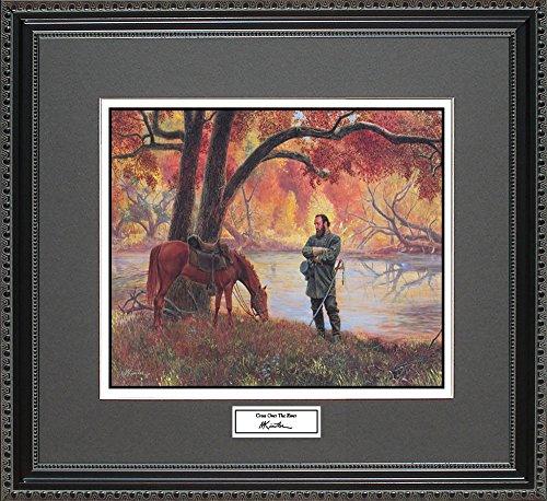 Mort Kunstler CROSS OVER THE RIVER Framed Wall Art Civil War Print, (Limited Edition Art Union)