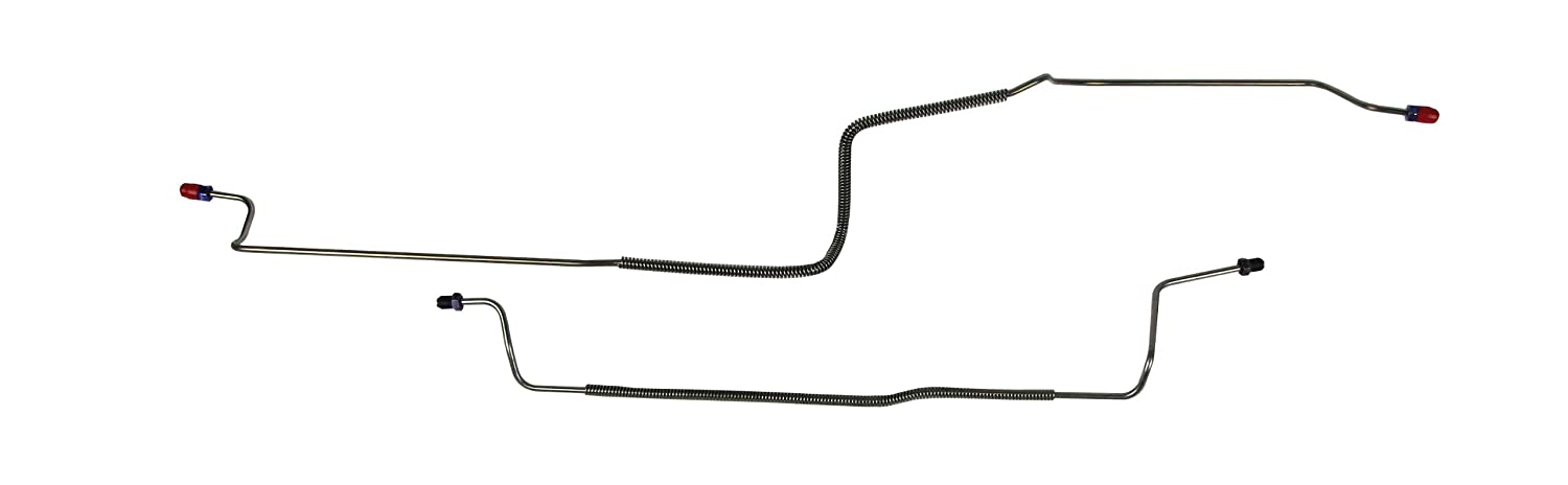 2 Pcs. Stainless The Right Stuff Detailing CRA8001S 78-88 Malibu Rear Axle Brake Lines
