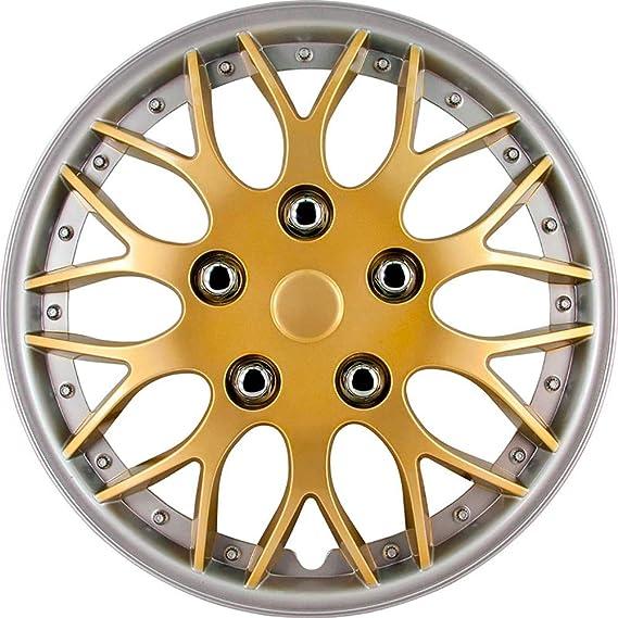 Satz Radzierblenden Missouri 14 Zoll Gold Silber Unrandet Auto
